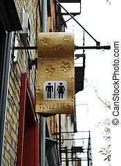 toilet, publiek, meldingsbord