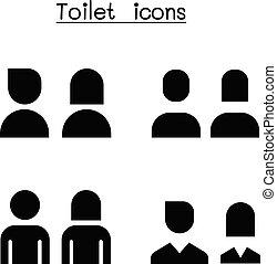Toilet, Restroom, WC icon set