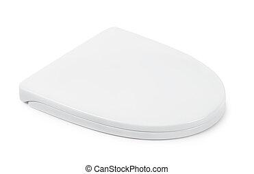Toilet seat  - Plastic toilet seat isolated on white