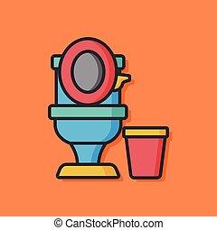 Toilet seat vector icon