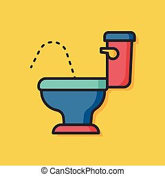 Toilet seat vector icon