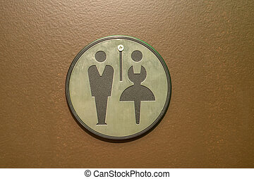 Toilet sign for men and women