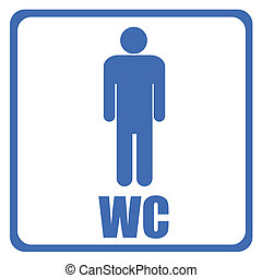 toilet sign isolated on white background