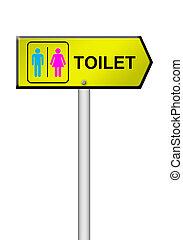 toilet sign on white