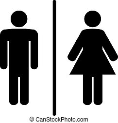toilet signs - a man and a lady toilet sign