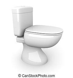 Toilet - 3D rendered Illustration.