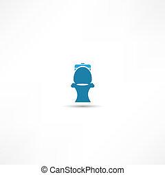 Toilet symbol, vector