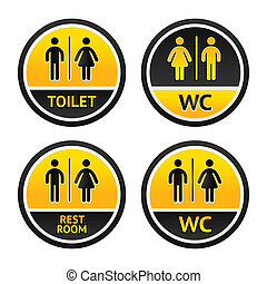 toilet, symbolen