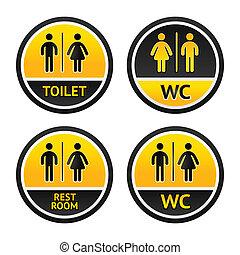 Toilet symbols