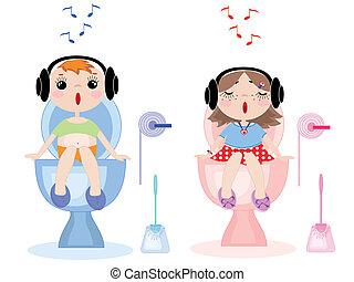 Toilet symbols,vector