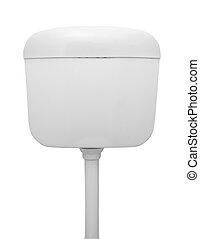 toilet tank - toilet water tank isolated on white