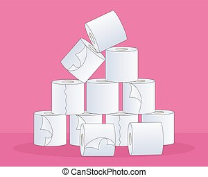 toilet tissue - a vector illustration in eps 10 format of a ...