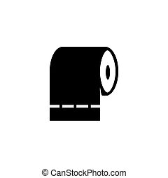 Toilet Tissue Paper Roll, Hygiene Napkins. Flat Vector Icon ...
