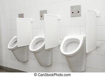Toilet - Urinals in a public toilet