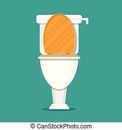 Toilet vector illustration in flat design.