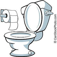 Toilet - Vector illustration of a toilet.
