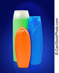 toiletries bottles - different toiletries plastic bottles ...