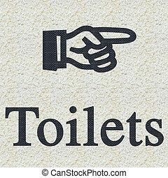 toilets, знак