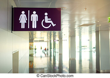 Public restroom signs - Toilets icon. Public restroom signs...