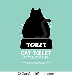 toilette, arrière, illustration, chat, vecteur, utilisation