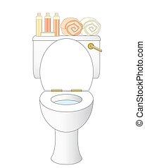 toilette, badezimmer