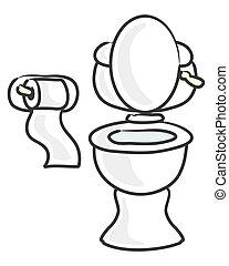 toilette, blanc