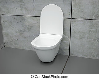 Toilette in hotel room. High resolution image. 3D rendered...