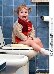 toilette, enfant