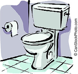 toilette, erröten, daheim
