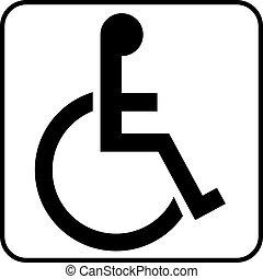toilette, fauteuil roulant