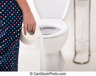 toilette, femme