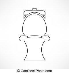 toilette, icône