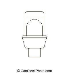 toilette, illustration, sentier