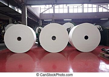 toilette, industrie, papier, tissu, fabrication