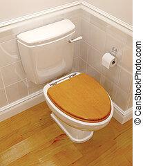 toilette, render, 3d