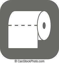 toilette, salle bains, serviette, plat, placard, symbole.,...