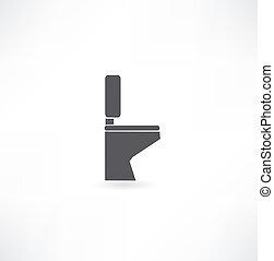 toilette, salle bains, wc