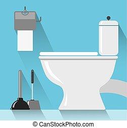 toilette, salle