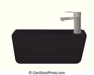 toilette, sombrer