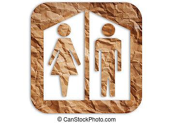 toilette, symbole.