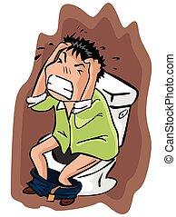 toilette, tension