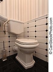 toilette, vieux façonné