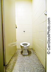 toilette, vieux, sale