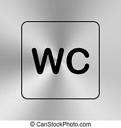 toilette, wc, plaque., door/wall