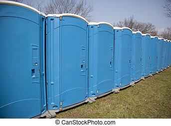 toiletten, draußen, tragbar