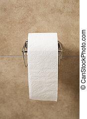 toilettenpapier, halter, rolle