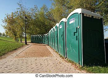 toilettes, parc, public