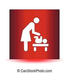 toilettes, wc, toilette, signe