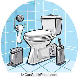 Cleaning Toilet Illustrations And Clipart 10233