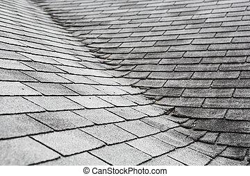 toit, composite, abîmer, vieux